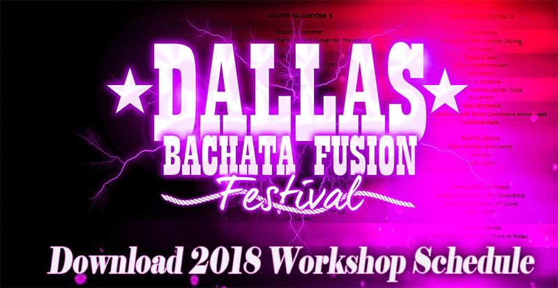Dallas Bachata Festival 2018 Workshop Schedule graphic