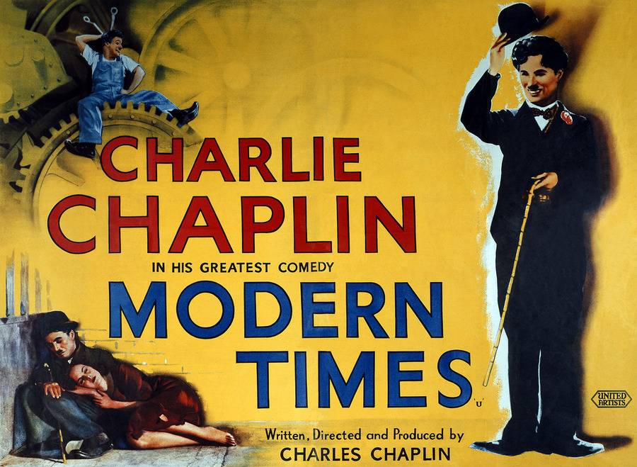 """modern times importance food film Chaplin's use of sound in modern times in his account of the film, """"important because it was the first (above his head) a tray of food across a."""