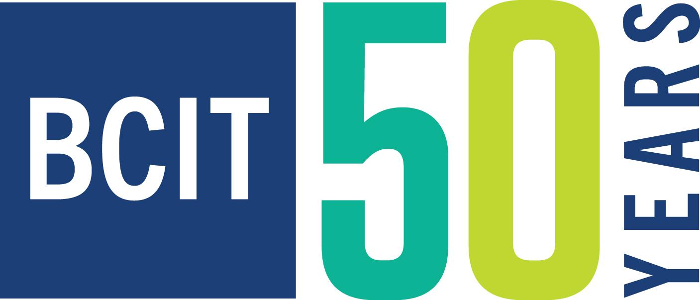 BCIT 50 Years logo