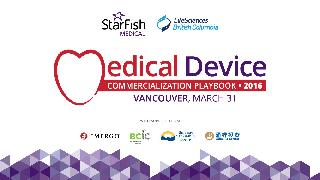 Playbook 2016 CO-Presented by StarFish Medical and LifeSciences BC