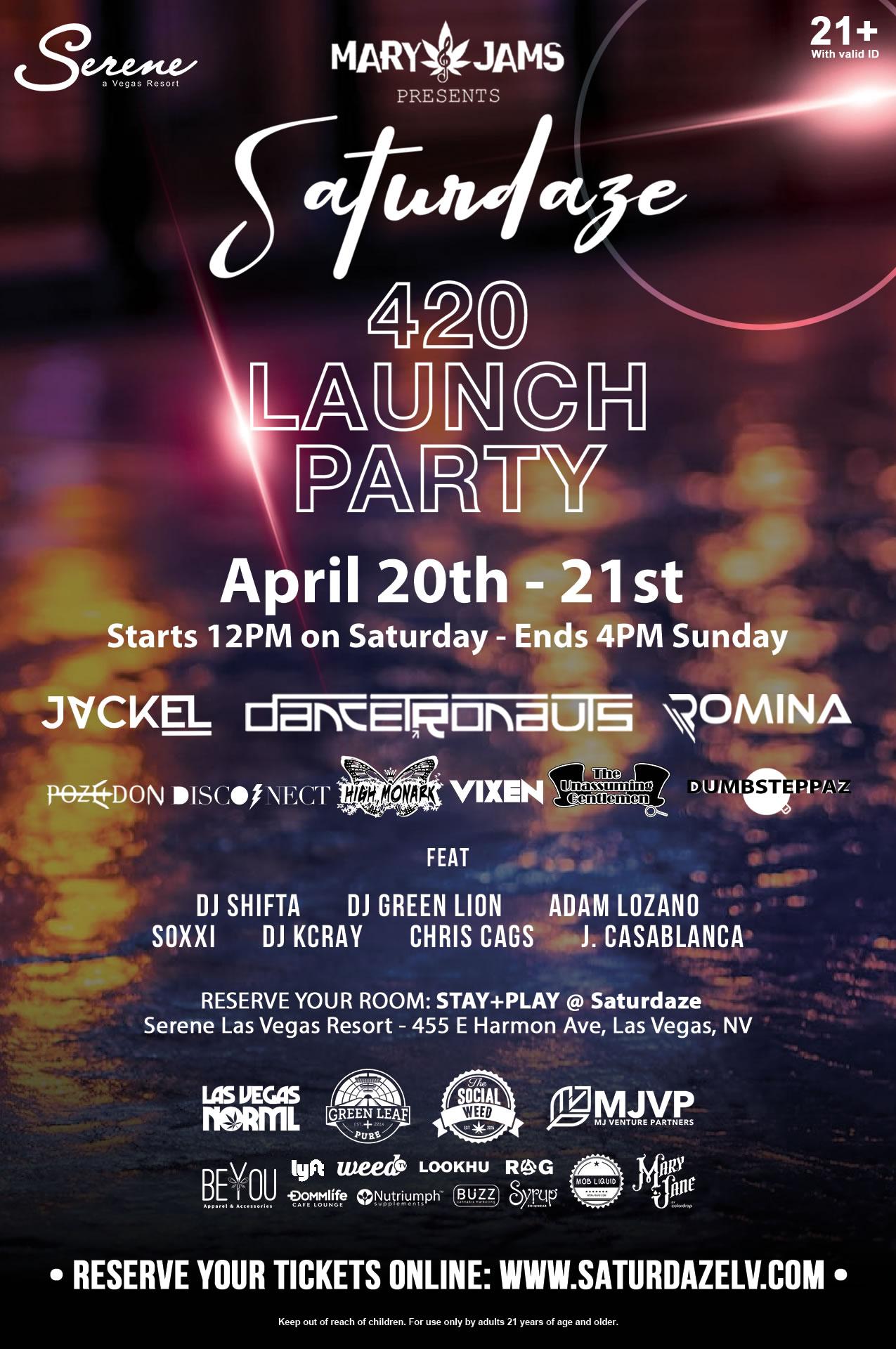 SATURDAZE Las Vegas 420 launch party event