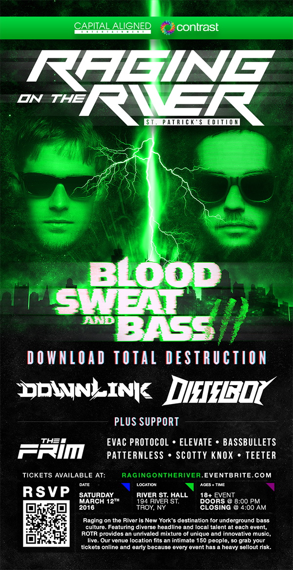 Raging on the River w/ Downlink + Dieselboy + The Frim