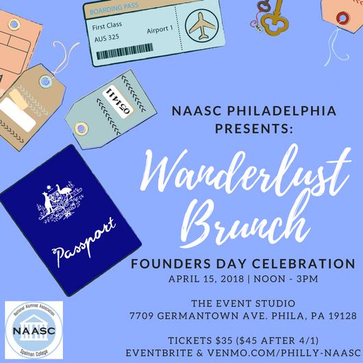 NAASC Philadelphia Founder's Day 2018 flyer