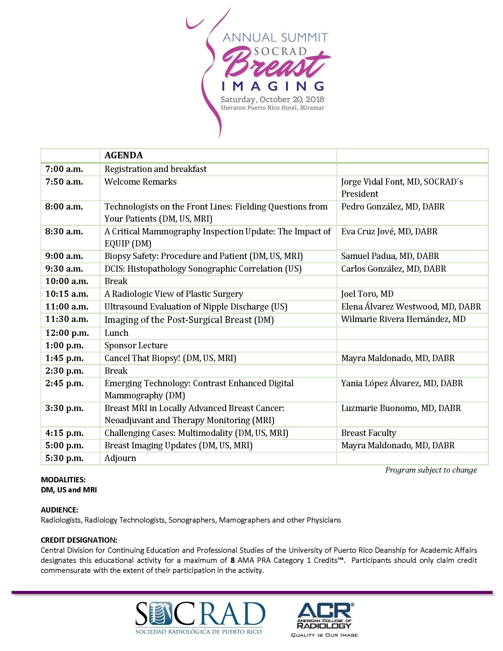 agenda Breast Summit