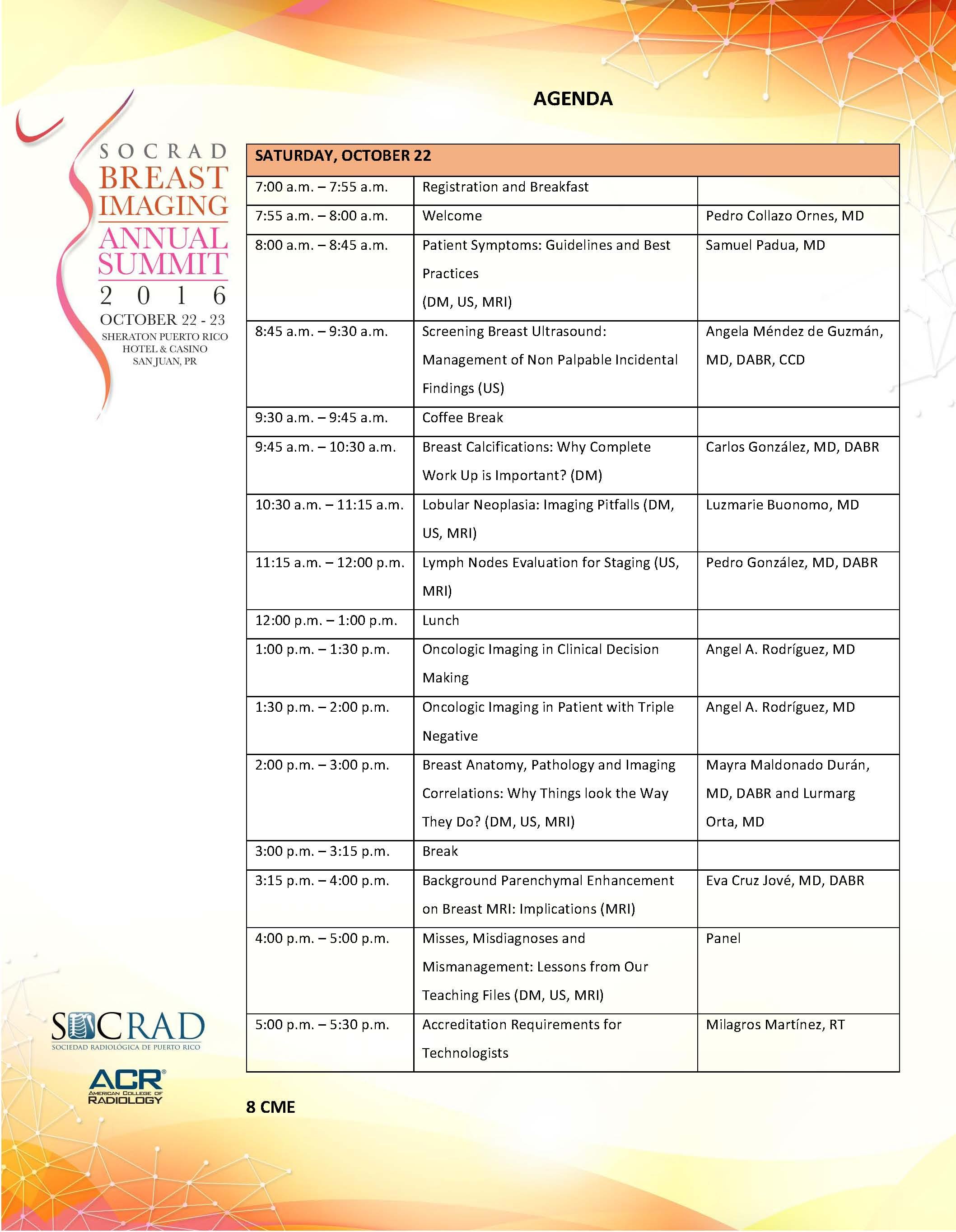SOCRAD Breast Imaging Annual Summit