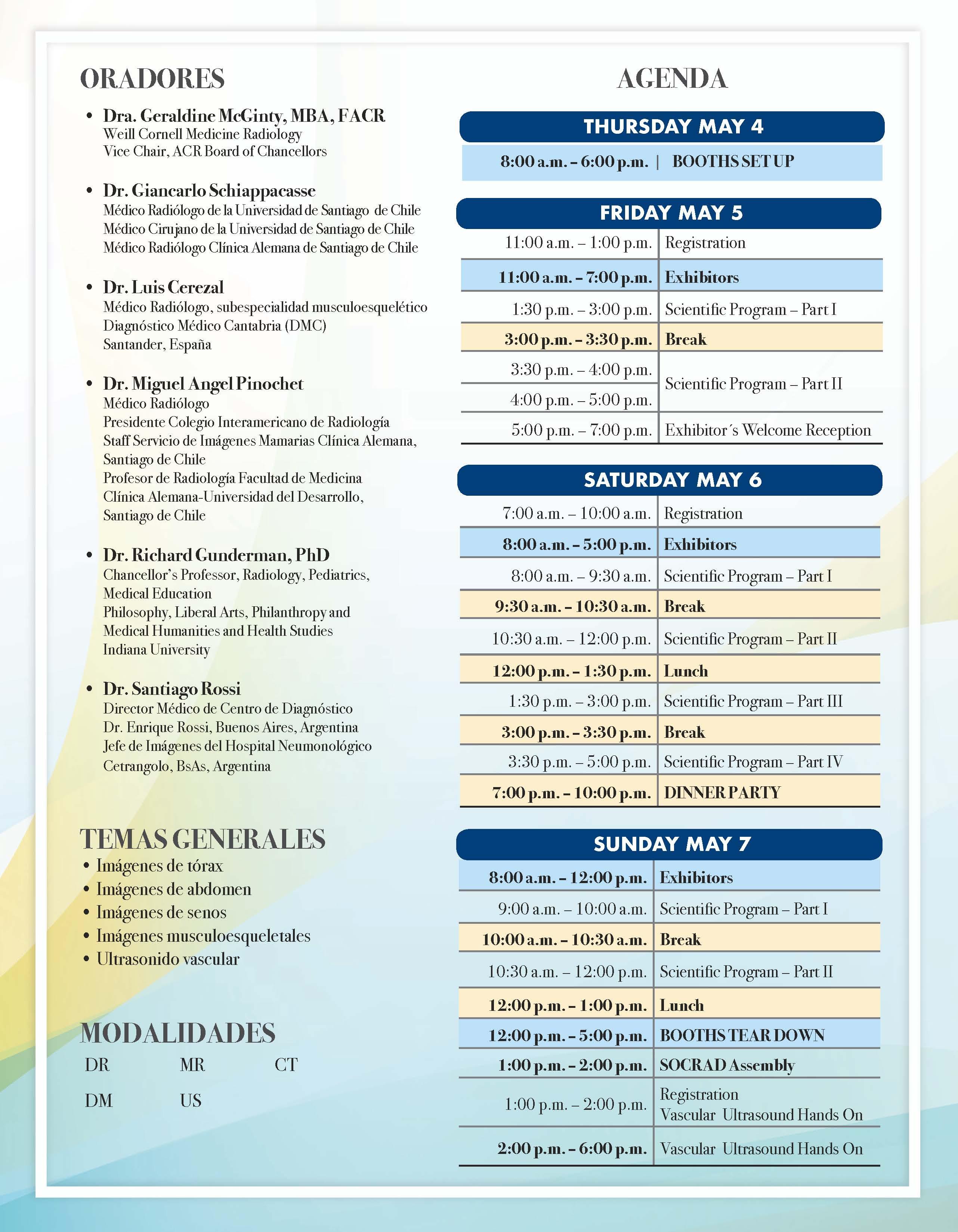 21ra Convención Anual SOCRAD