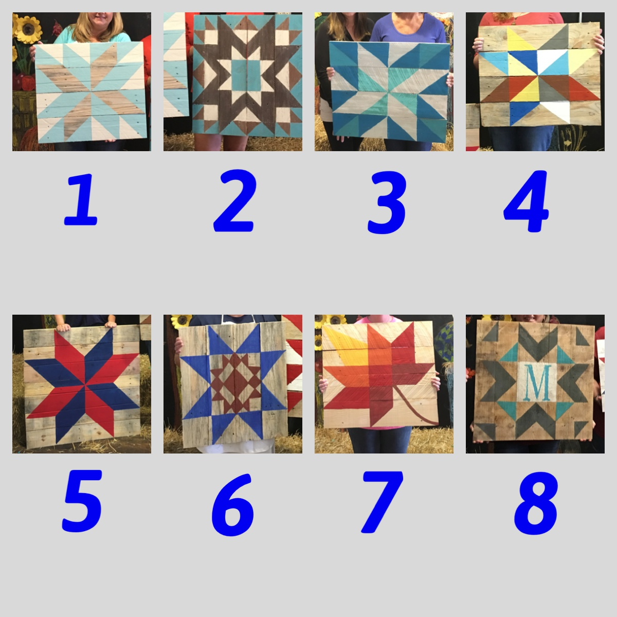 Barn Quilt Pattern Options