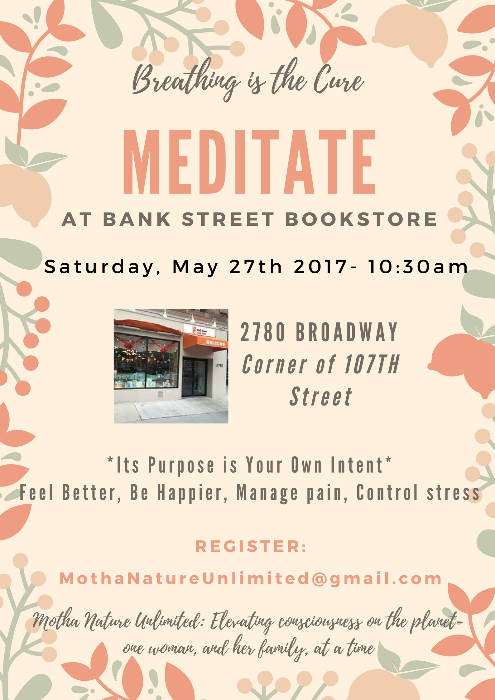 Meditation at Bank Street Bookstore