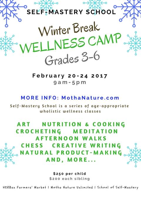 Winter Break WELLNESS CAMP: February 2017