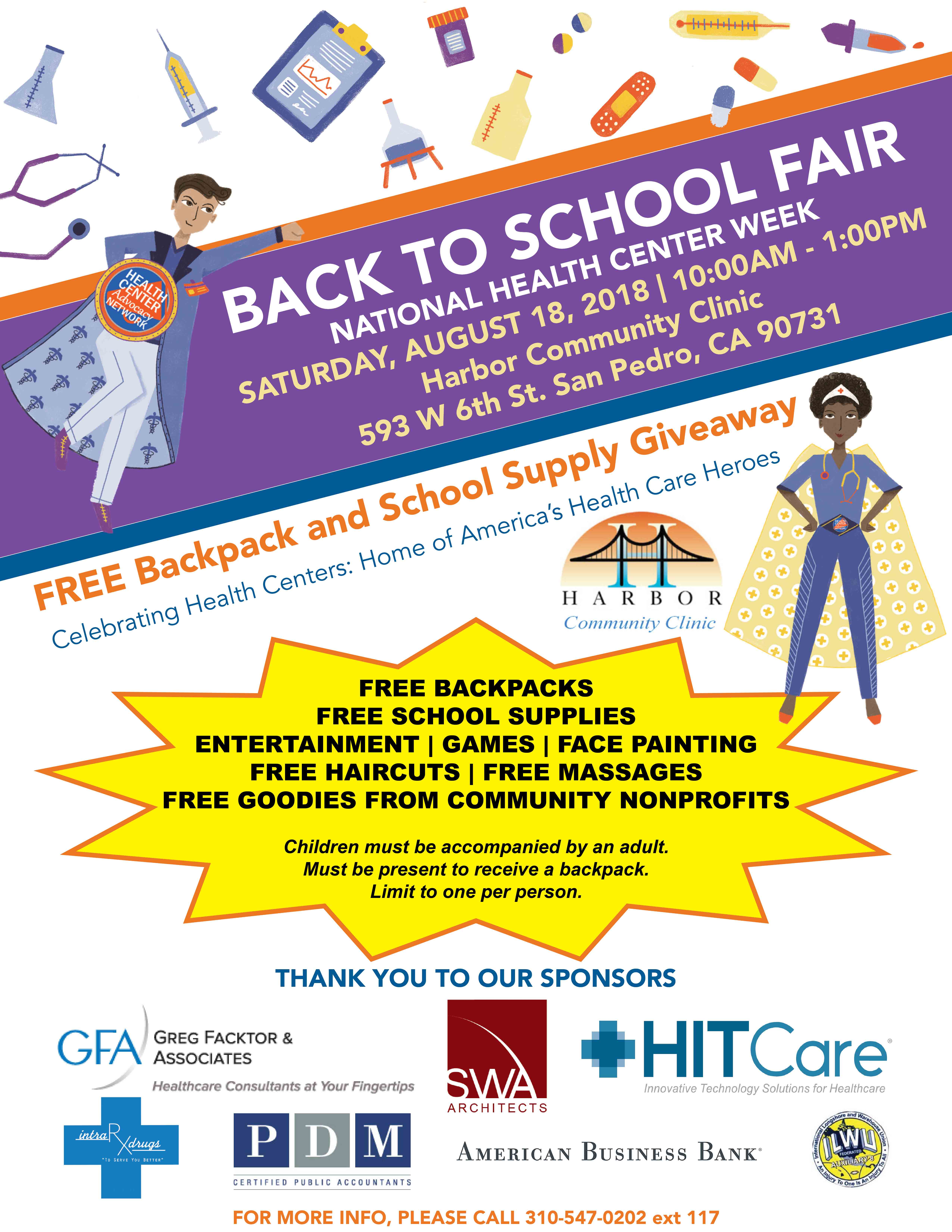 Back to School Fair 2018! Free Backpacks and School Supplies