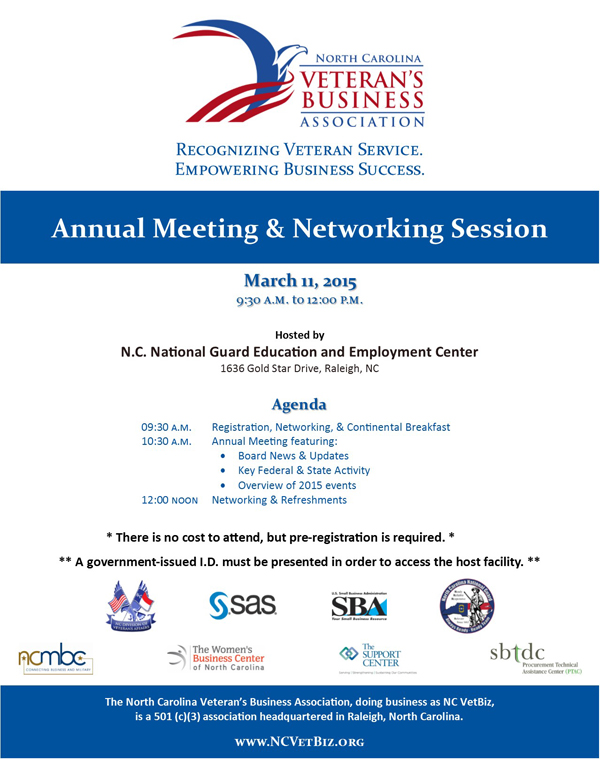 Annual Meeting & Networking Session
