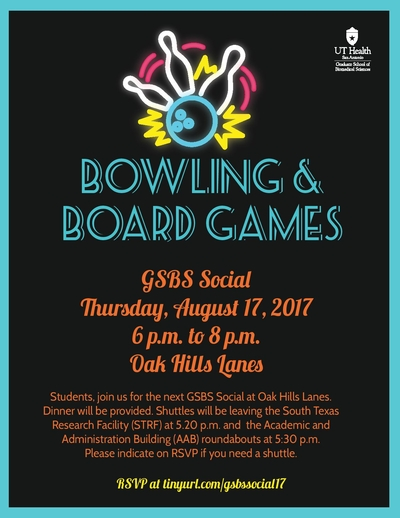 Gsbs Social Bowling And Board Games Graduate School Of Biomedical