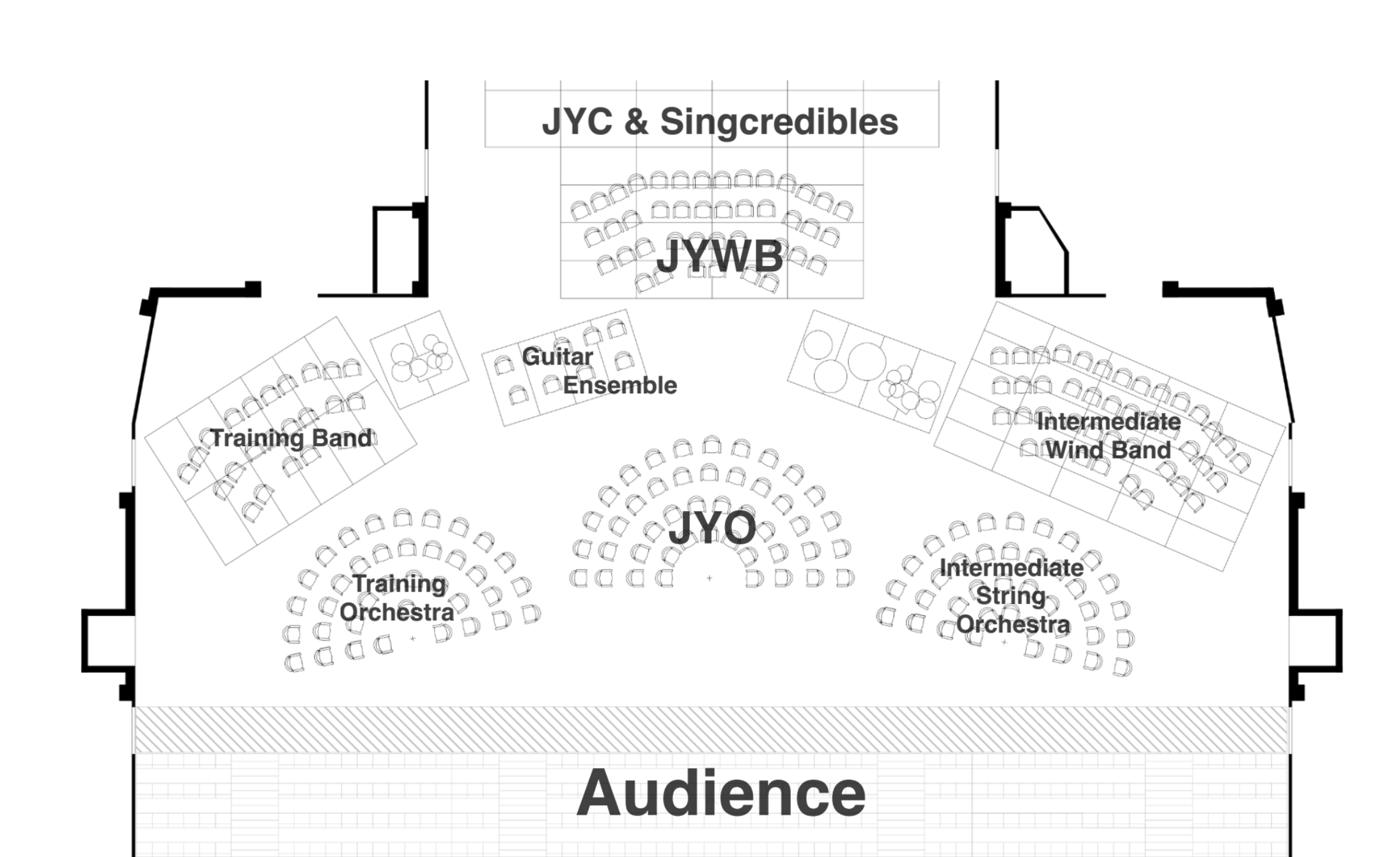 Jersey Music Service Stage Layout