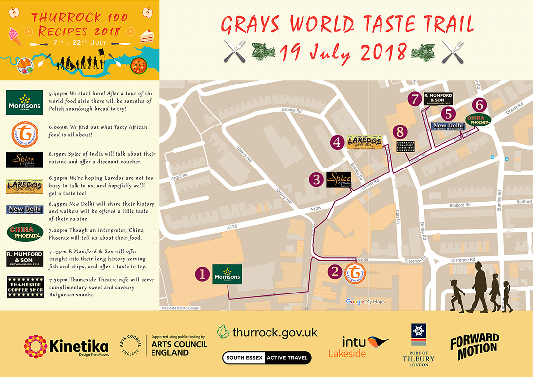 Grays town walk map