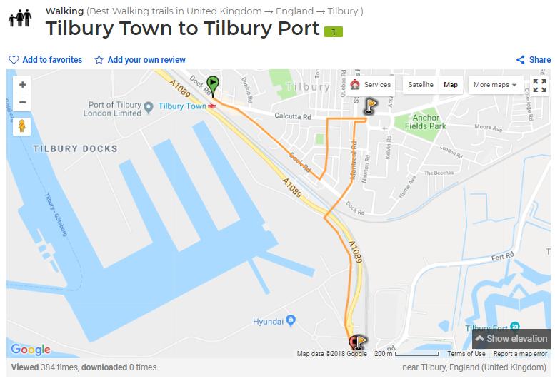 Tilbury Town walk