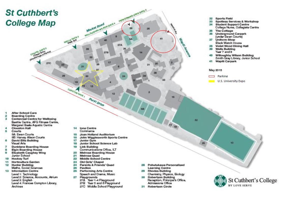 St Cuthbert's College Map