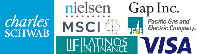 Charles Schwab, MSCI, PG&E, Latinos in Finance, Visa, Nielsen, Gap