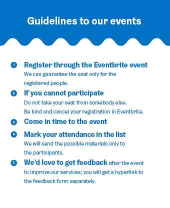 Guidelines to NewCo Events!