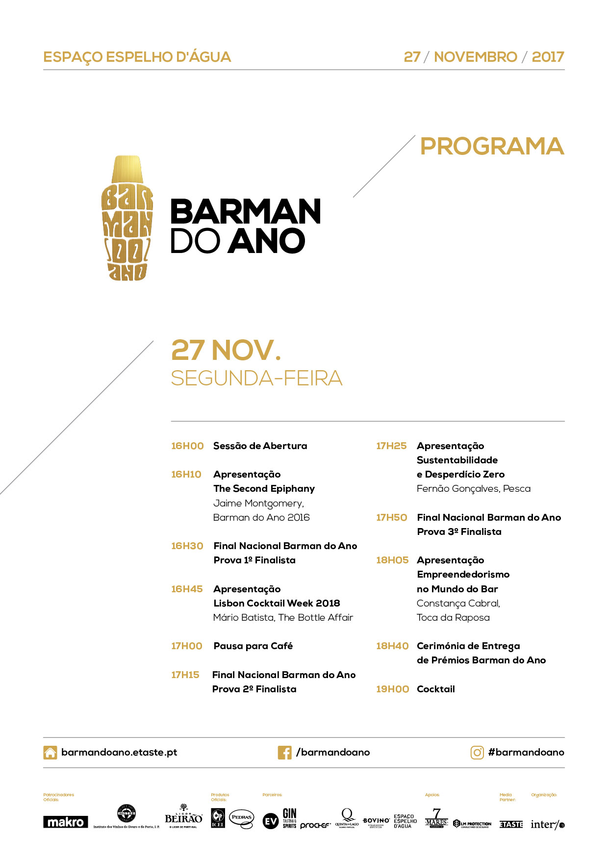 Programa Forum e final barman do ano