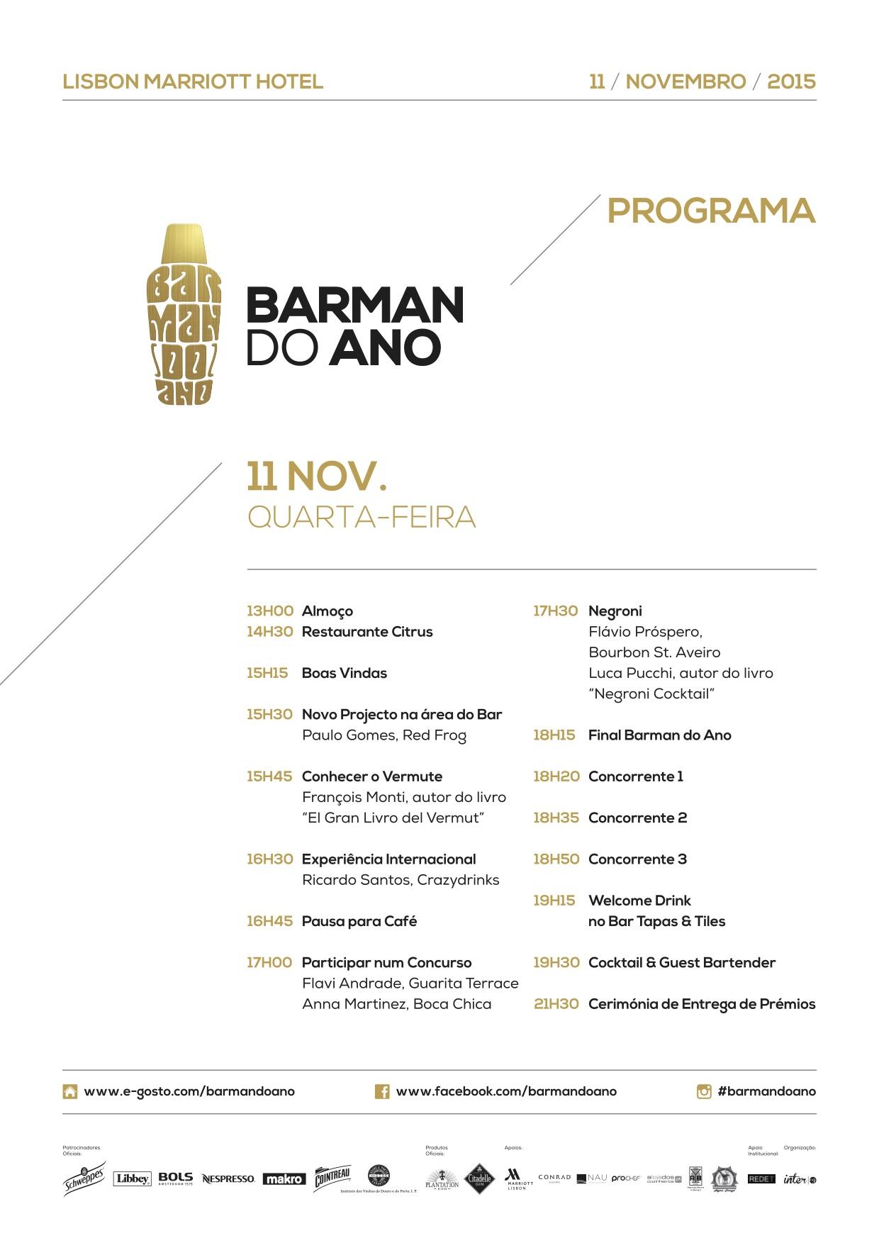 Programa Fórum e  Final Nacional Barman do Ano 2015