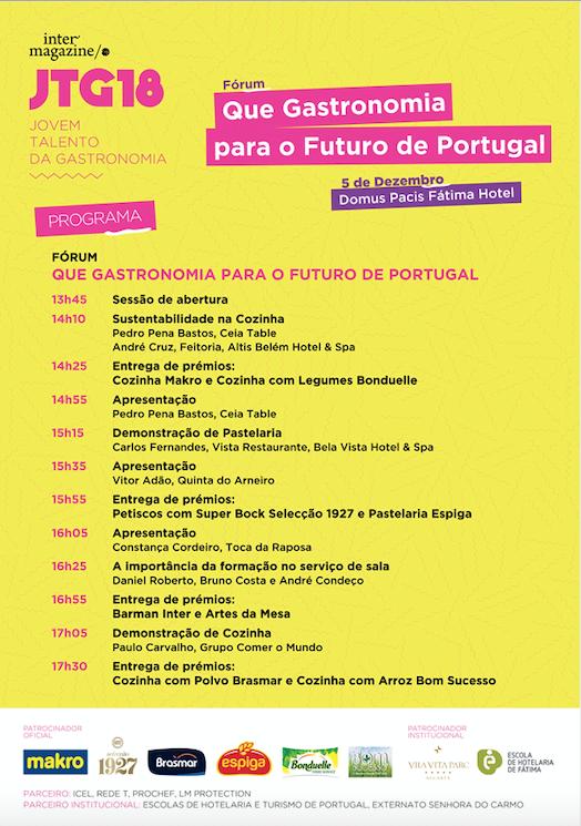 Programa JTG Final Nacional | Fórum Que Gastronomia para o Futuro de Portugal