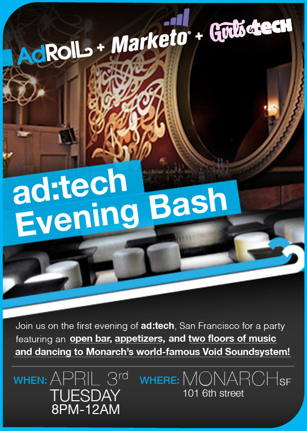 ad:tech Evening Bash Flyer