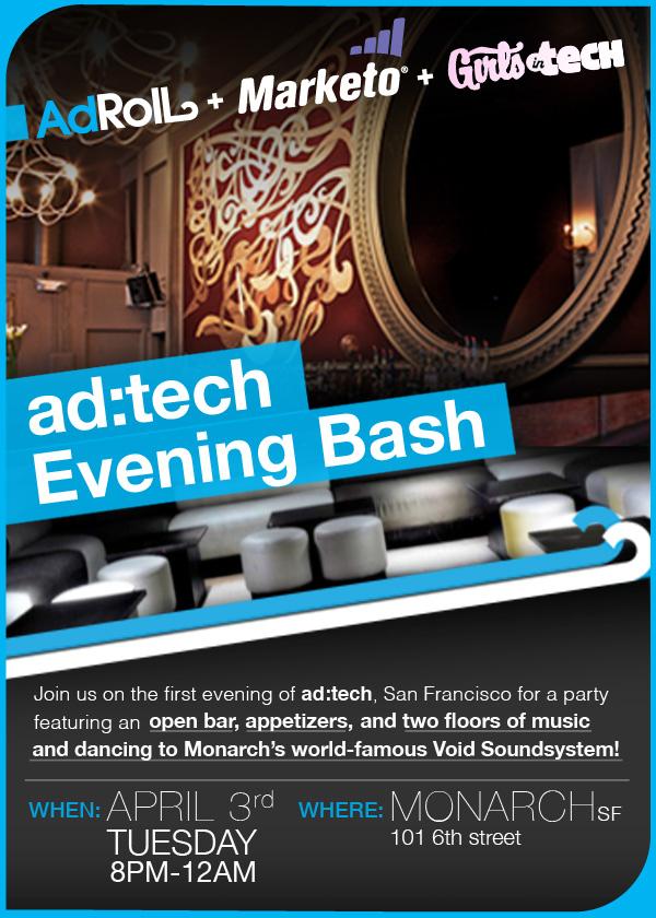ad:tech Evening Bash Flyer