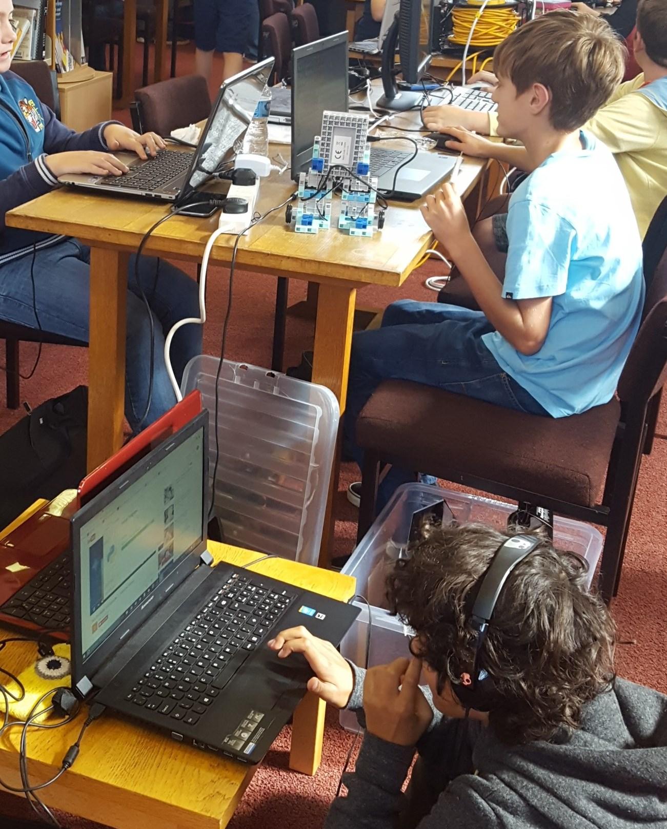 Busy WyeHack Coders