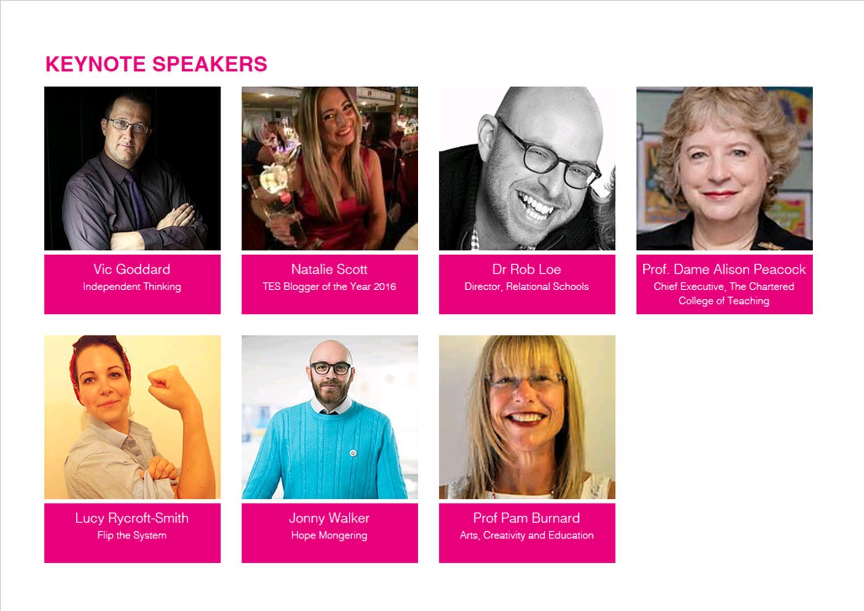 CambsEdFest Keynote Speakers