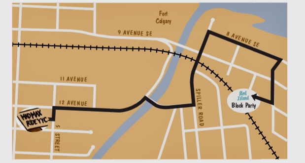 Mad Max Ride YYC Route Plan