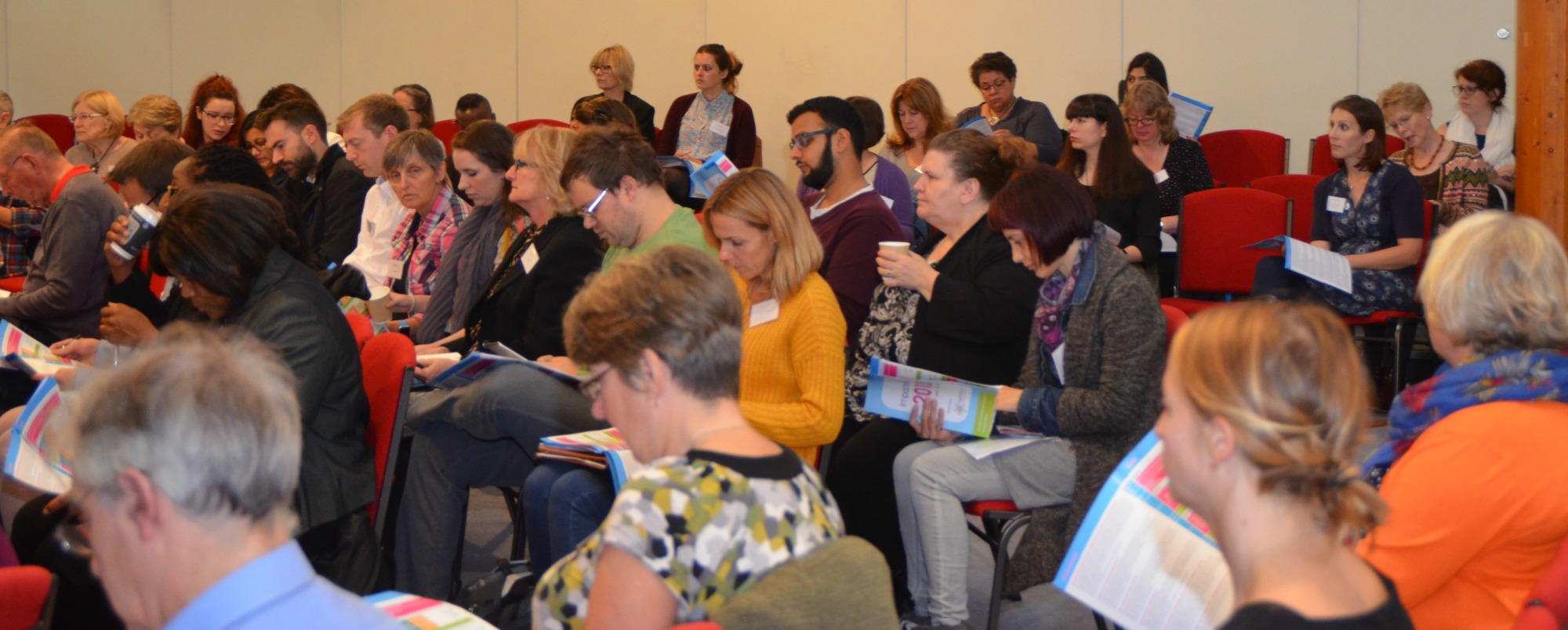 Photo of attendees at Impact Aloud 2015