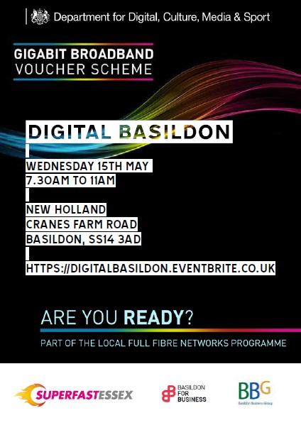 Digital Basildon leaflet - front page
