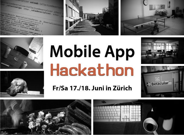 Mobile App Hackathon - Zurich - Sa 30. April - So 1. Mai