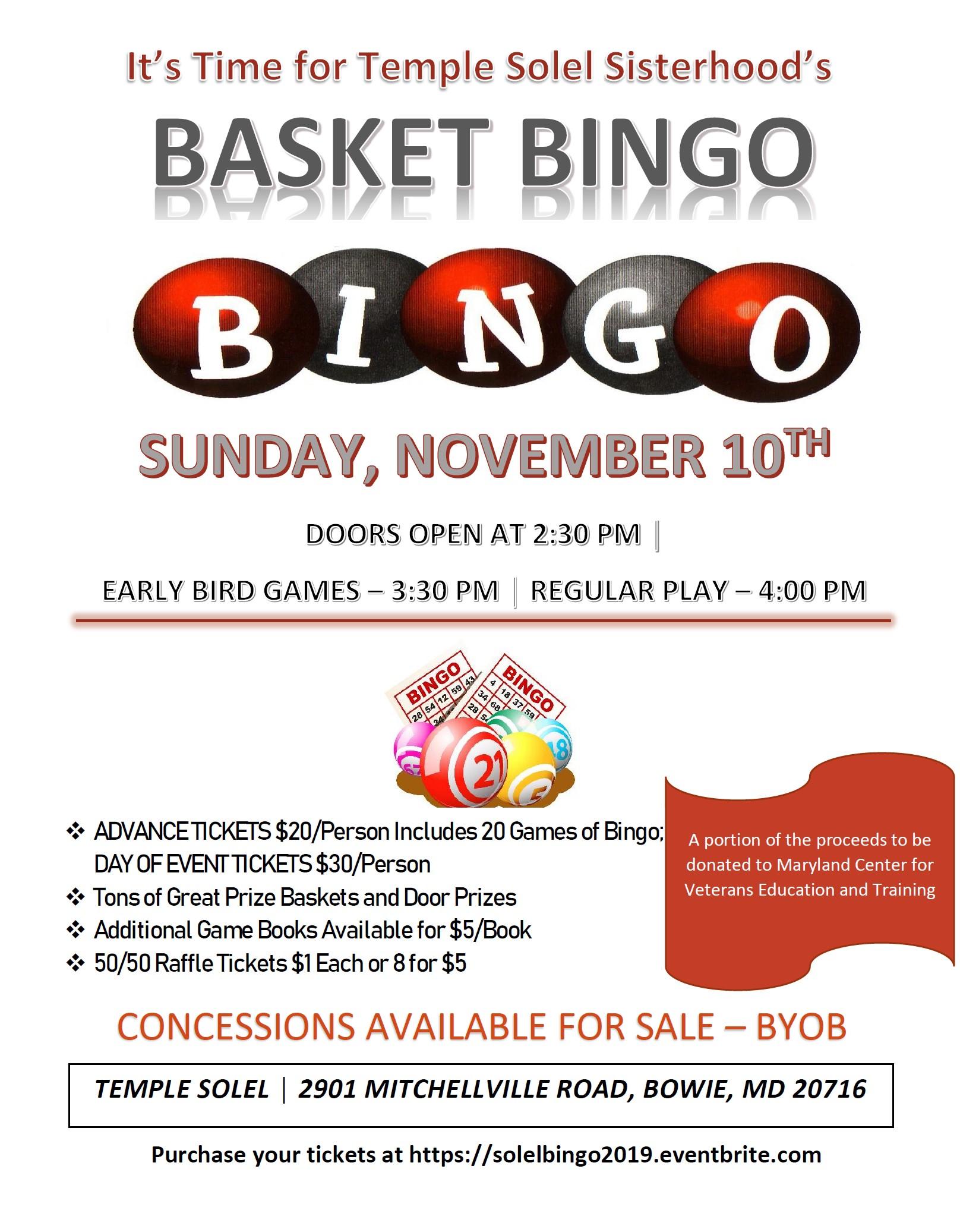 Basket Bingo 2019