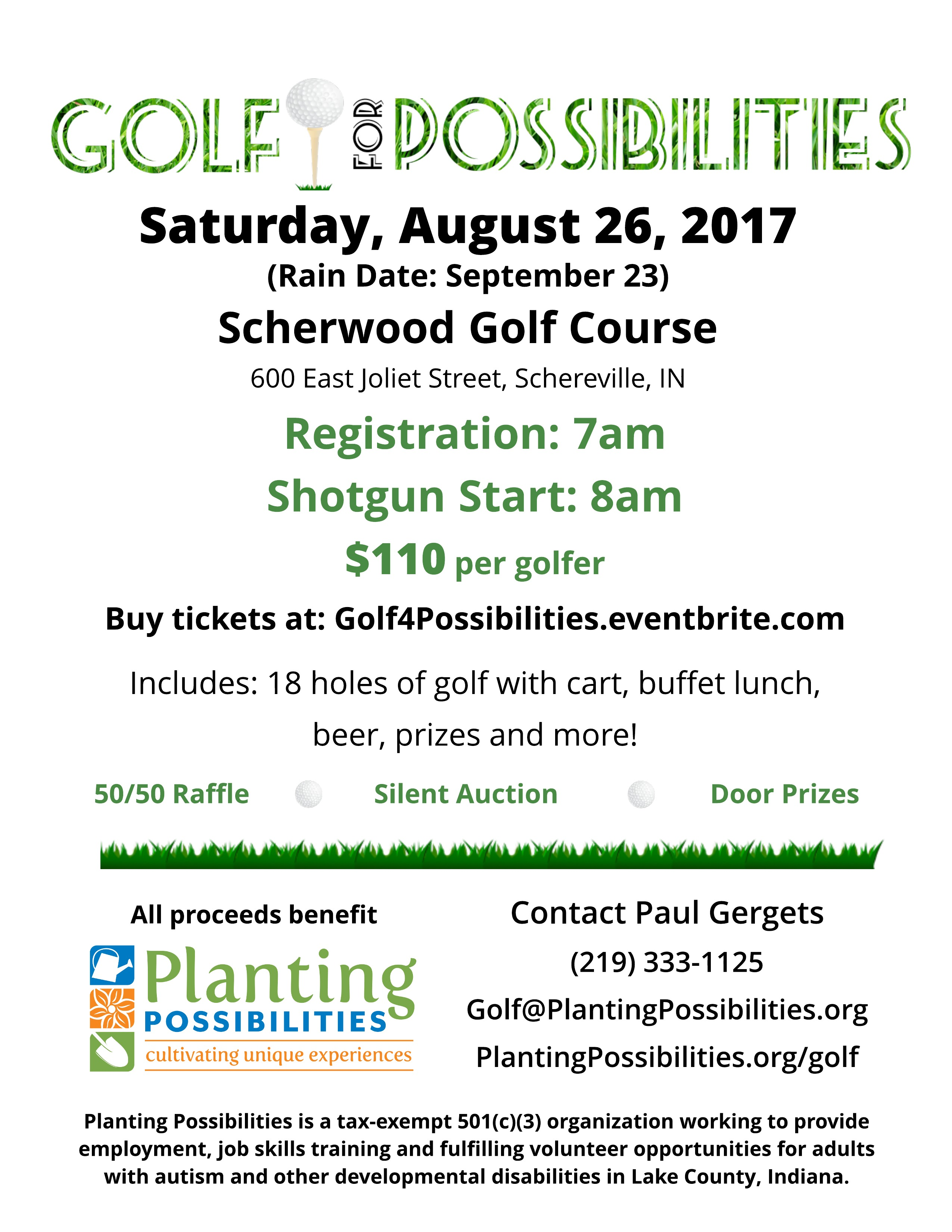 Golf for Possibilities 2017 Poster
