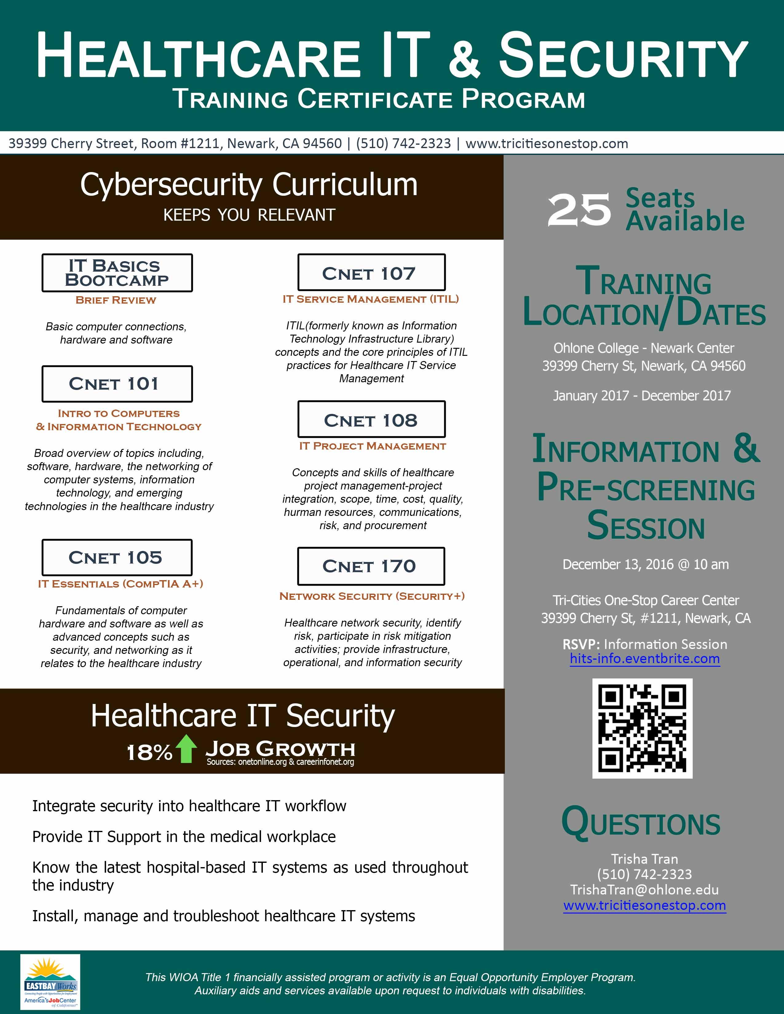 Healthcare IT Security flyer