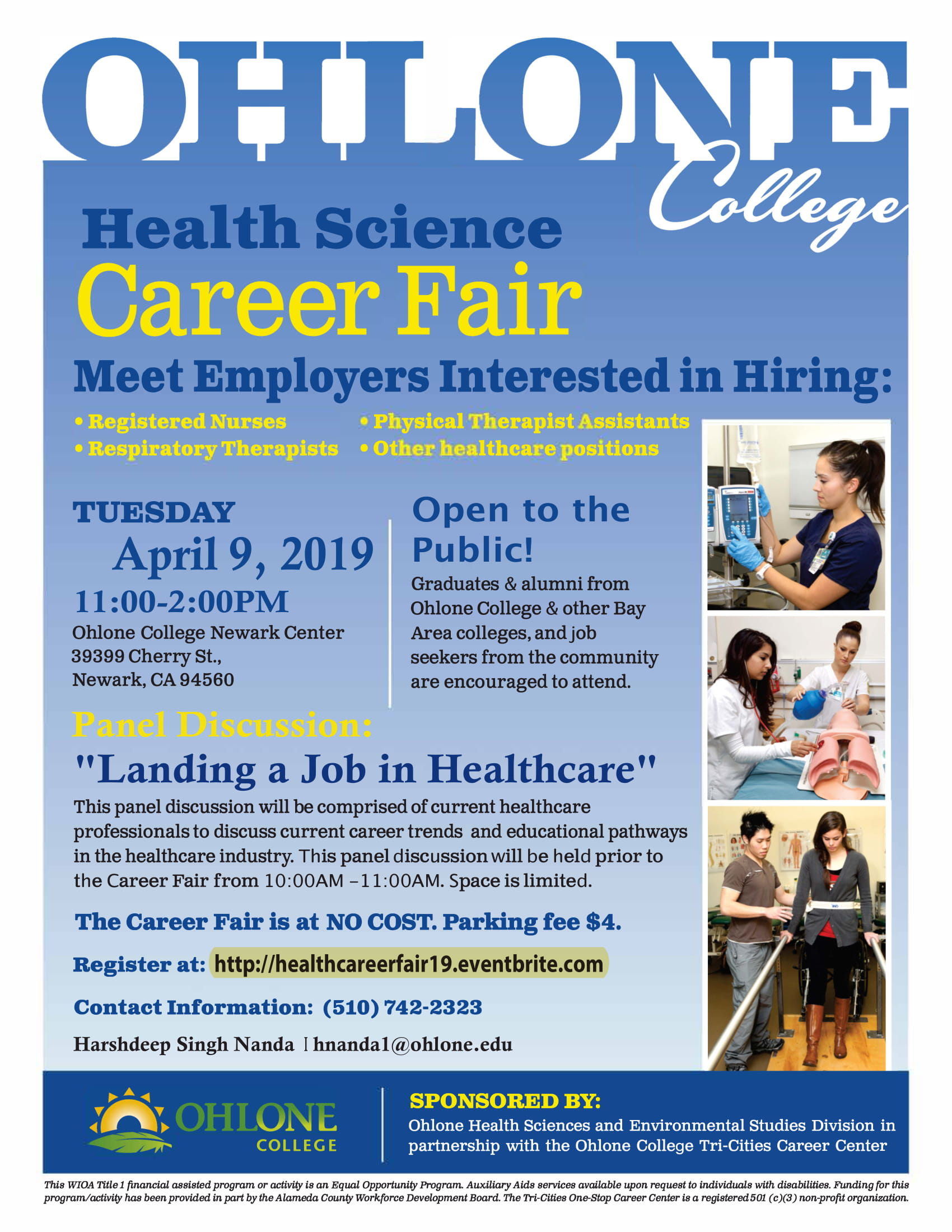 Ohlone College Health Science Career Fair 2019 Tickets Tue Apr 9