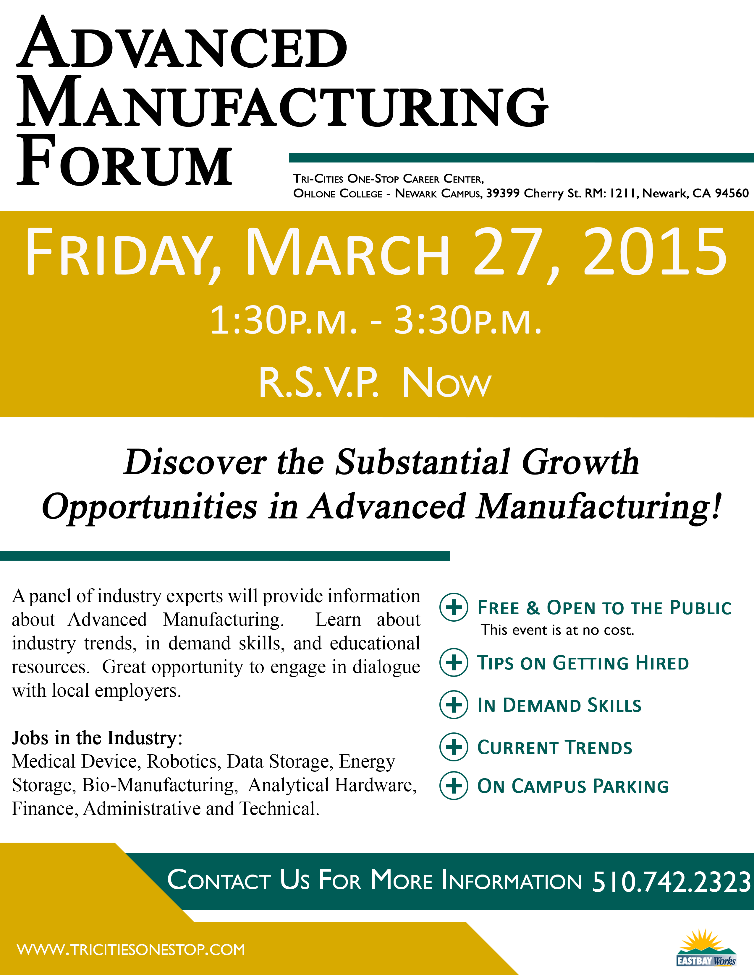Advanced Manufacturing Forum Flyer