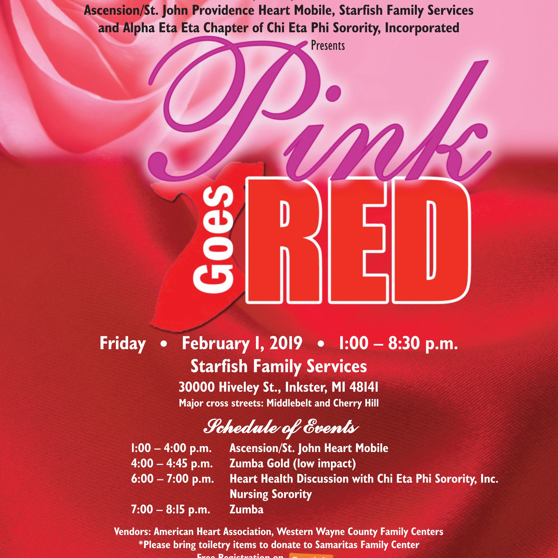 Pink Goes Red flyer