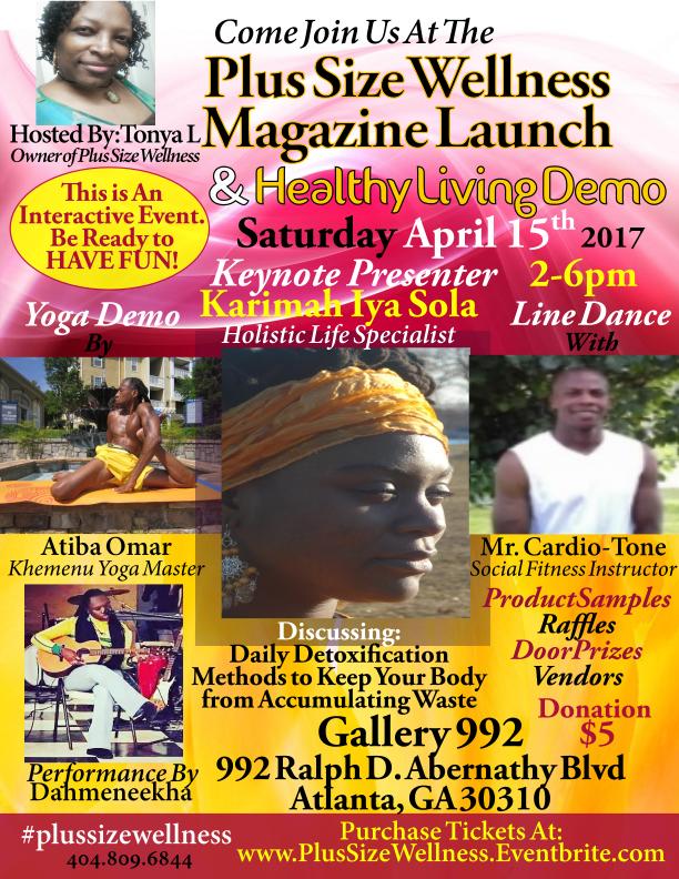 Plus Size Wellness Magazine Launch Event