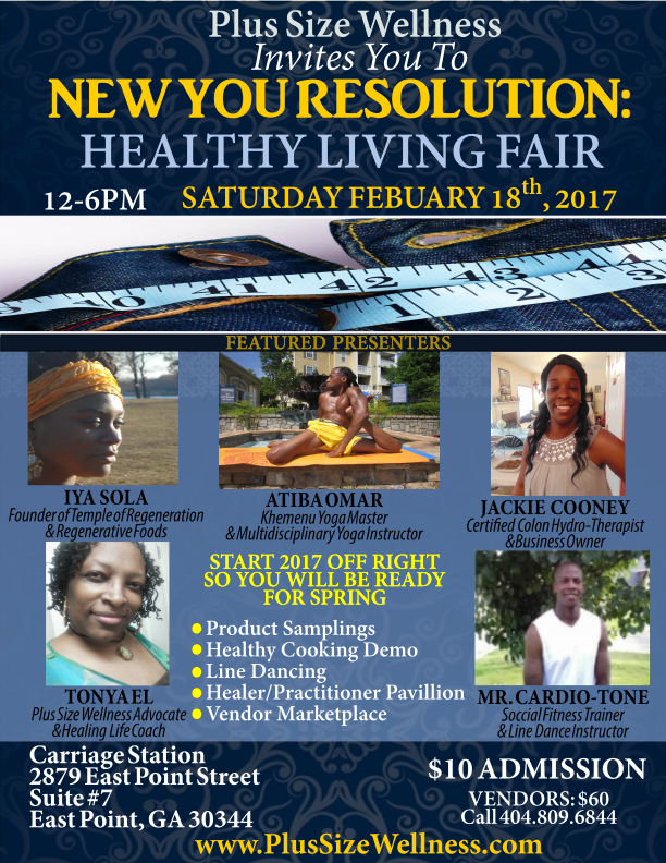 New Your Resolution:Healthy Living Fair Flyer