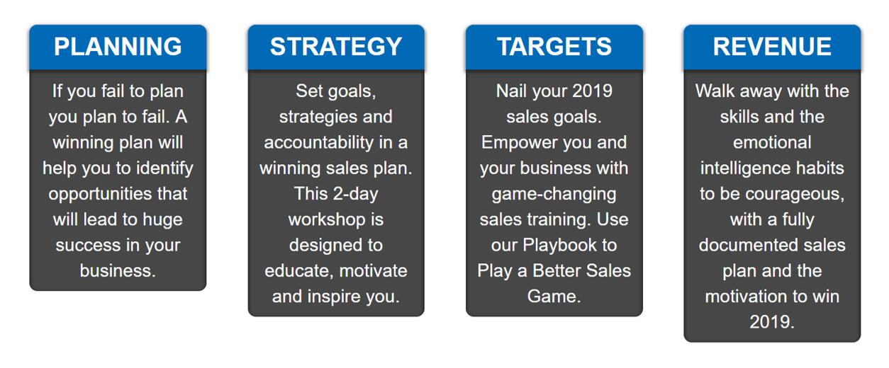 Sales Training Info