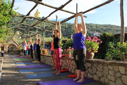 Yoga under the lemon trees
