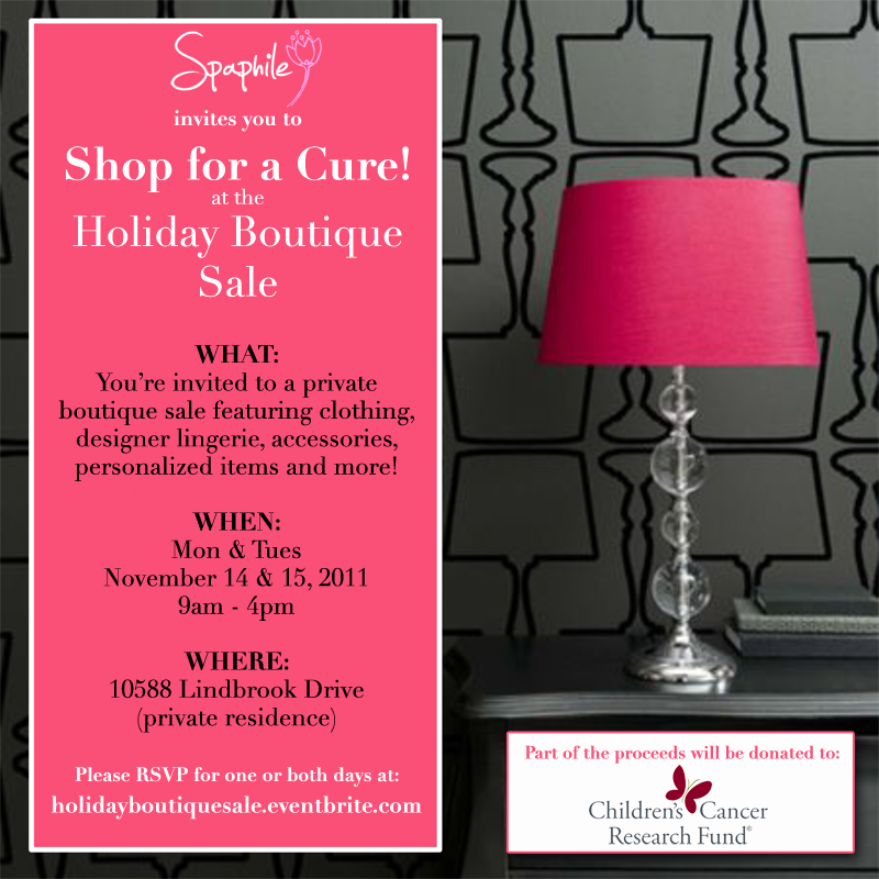 Holiday Boutique Sale Flyer