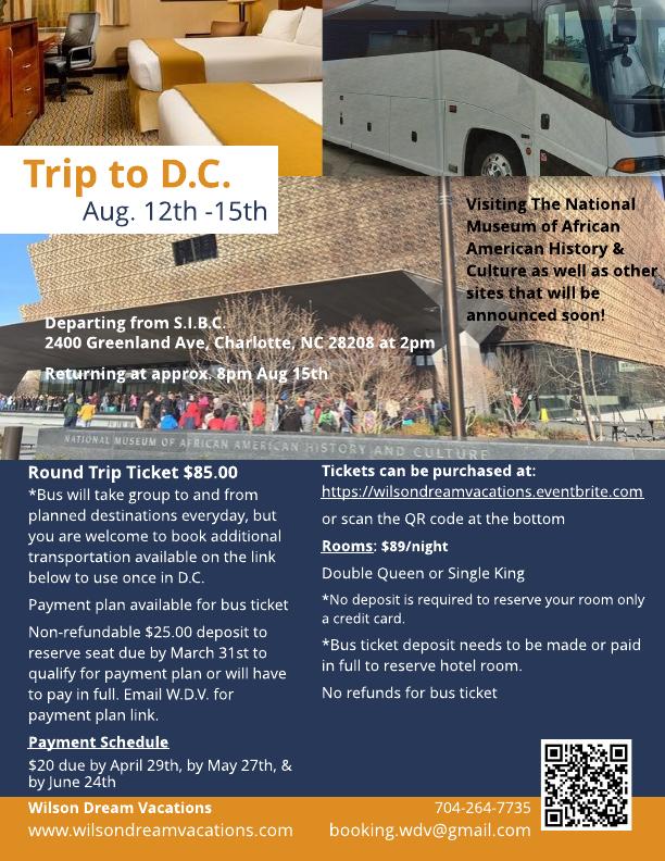 2018 DC Trip -Flyer