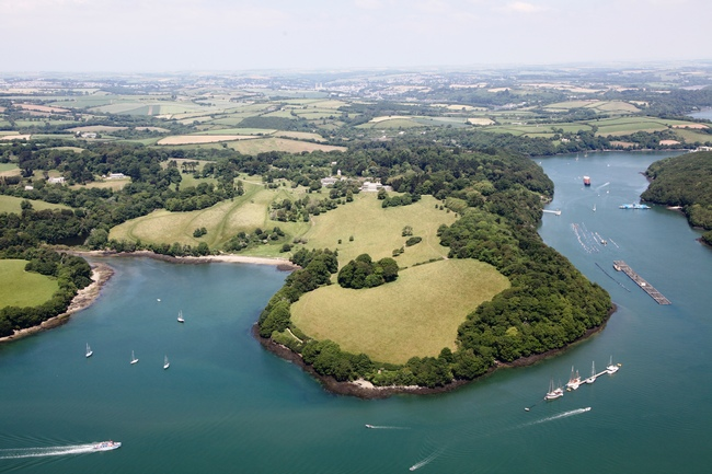 Trelissick from the air - small