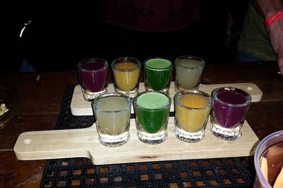 juice and beer flight