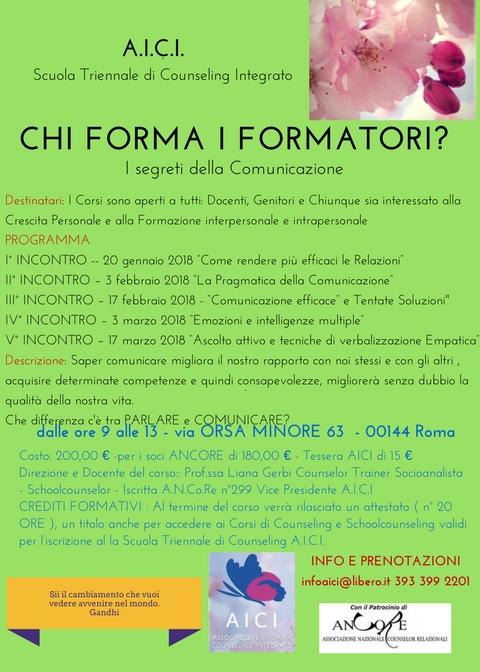 CHI FORMA I FORMATORI