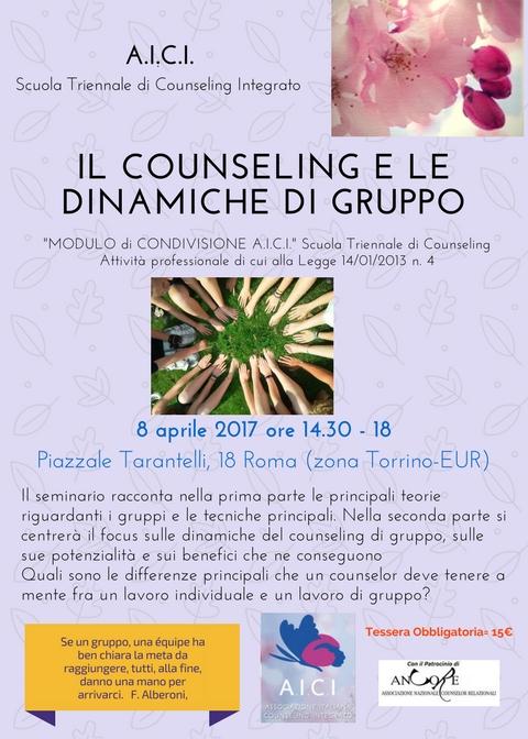 Il counseling e le dinamiche dei gruppi