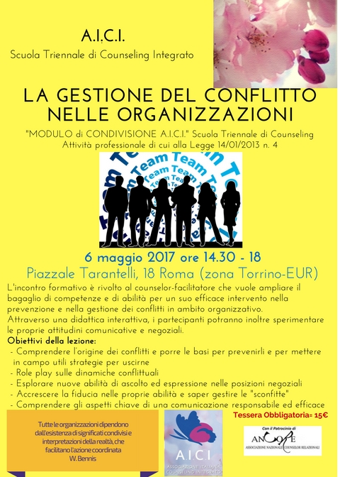 la gestione del conflitto nelle organizzazioni